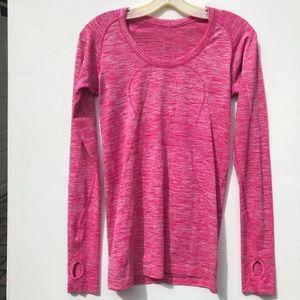 LULULEMON Pink Long sleeve Swiftly Tech Top 6 pink